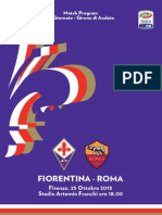 Fiorentina-Roma Match Program