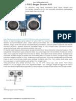 Sensor PING Dengan Bascom AVR