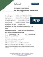 FORMULIR PENDAFTARAN OLIMPIADE N.doc