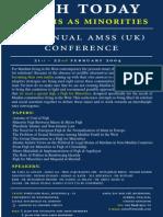 5thAMSSUK Conference Feb2004 - Flyer