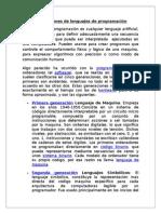 Investigacion Generaciones Lenguajes Prog