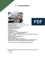 Assignment C++ Programming