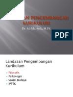 Landasan Filosofis, Komponen Dan Prinsip-prinsip Pengembangan Kurikulum -PPS