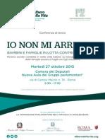 Programma 27Ottobre2015 ConferenzaIONONMIARRENDO RicercaPovertà