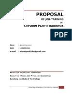 Proposal KP Chevron Ahmad
