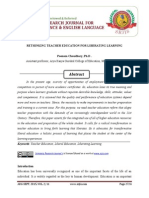 RETHINKING TEACHER EDUCATION FOR LIBERATING LEARNING