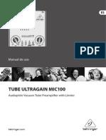 Manual Behringer Mic100 Esp