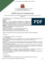 Decreto Estadual 20811-1983