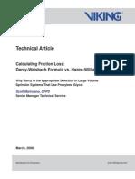 Darcy-Weisbach Formula vs. Hazen-Williams