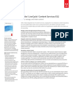 Adobe® LiveCycle® Content Services ES2 Share, manage, and retain content