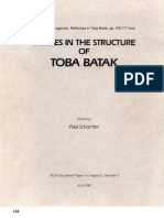 Studies in the Structure of Toba Batak - Sugamoto