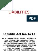 LIABILITIES of Public Officials