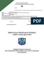 Pernyataan Penetapan Kinerja 2014