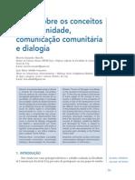 Notas sobre os conceitos de comunidade, comunicação comunitária e dialogia.