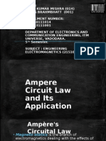 Ampere's Circuital Law and Its Application