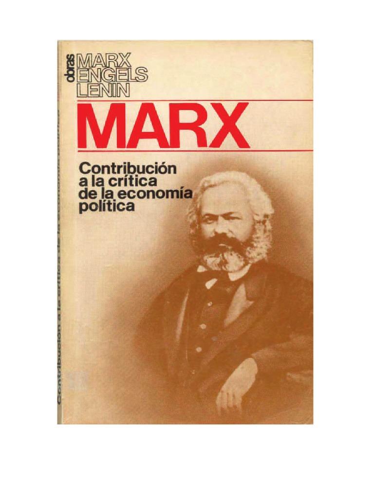 PROLOGO- MARX KARL - Contribucion a La Crítica de La Economia ...