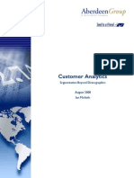 Aberdeen Group Report-Customer Analytics-Segmentation Beyond Demographics