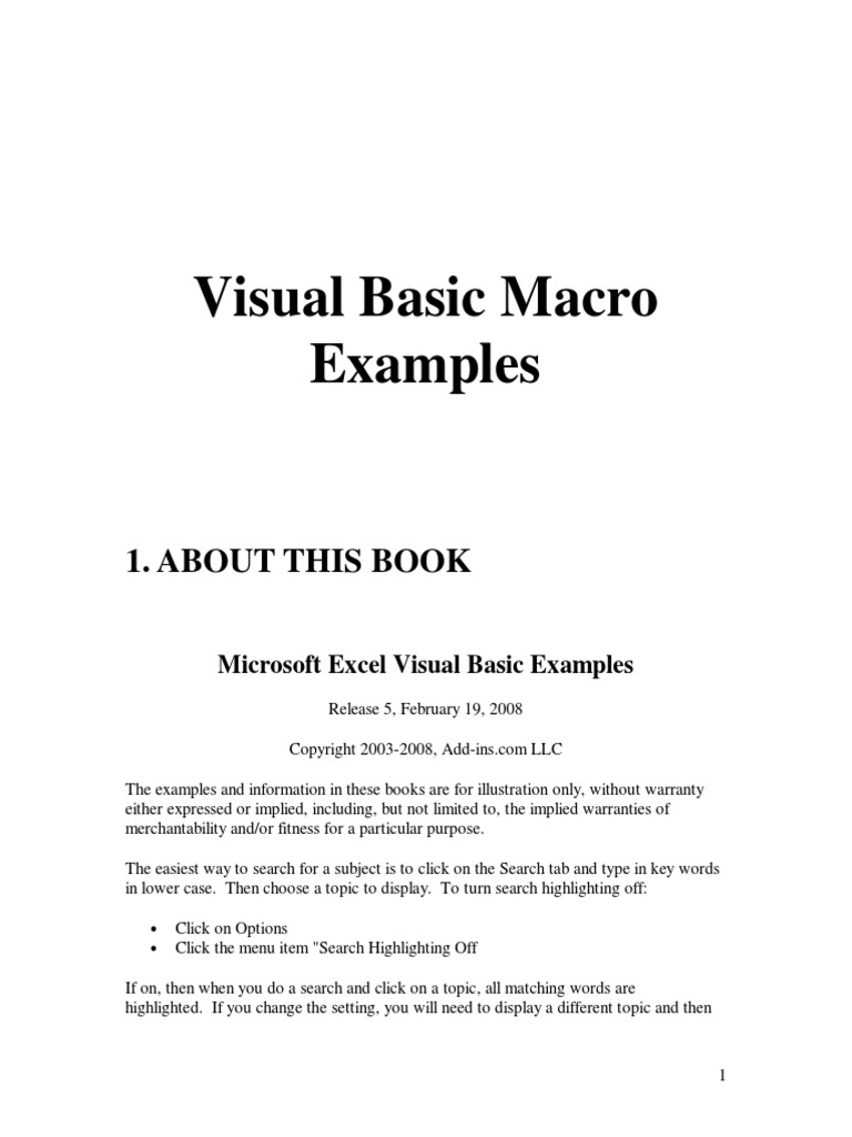 1200 Macro Examples | Microsoft Excel | String (Computer Science)