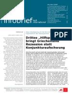 """EU-Infobrief 2015 - 4 Ausgabe -Drittes """"Hilfsprogramm"""" bringt Griechenland Rezession statt Konjunkturaufschwung"""