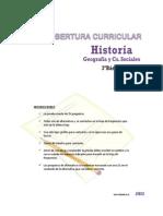Cobertura Curricular Historia 3basico 2013