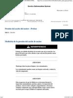 D9T Presion de Aceite Motor - Probar
