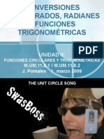 Conversiones Grados Radianes y Func Trigon