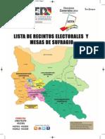 mapa Cochabamba