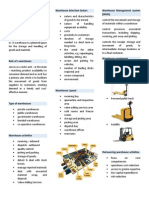 Warehouse Management Quick Reference Guide