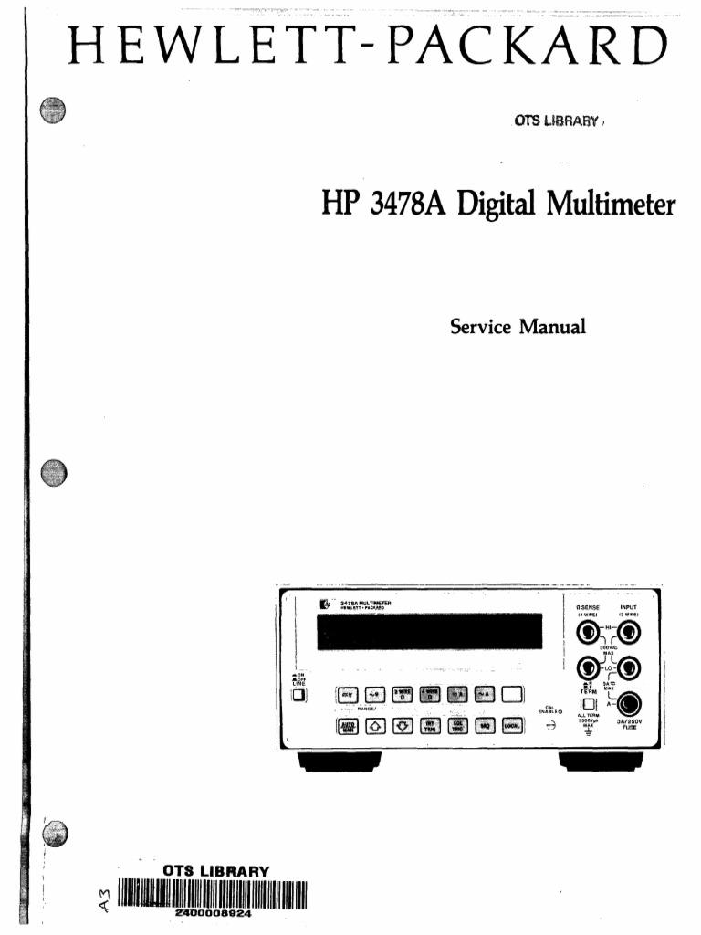 hp3478 service manual 2 electrical connector ac power plugs rh scribd com 0138 Bulb hp user guides 0138
