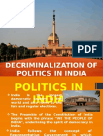 Decriminalization Of Politics in India