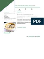 Recetario Thermomix® - Vorwerk España - Sopa de nabizas y alubias blancas - 2012-12-13