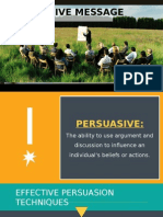 Chapter 10 - Persuasive Message