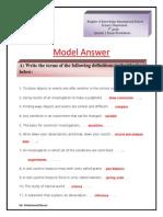 Worksheets Model Answer