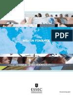 MSC in Finance Brochure