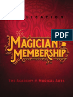 AMA Magician Membership Application June 2015