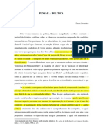 Penser La Politique. (Pensar a política) Bourdieu