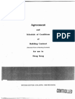 Agreement and Schedule of Conditions of Building Contract Without Quantities 1998 1