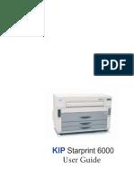 Kip Starprint 6000 User Guide
