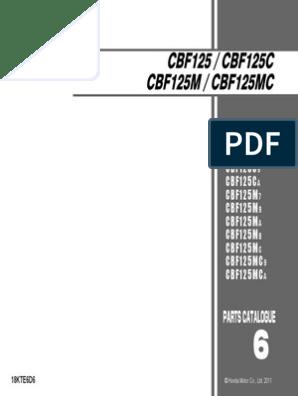 honda cbf 125 service manual pdf