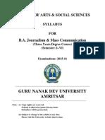 Ba Journalism and Mass Communication Semester i to Vi