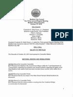 Medford City Council Agenda October 27, 2015