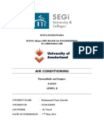 (CARNOT CYCLE) Lab Report on Cooling and heating effects in an air conditioning system