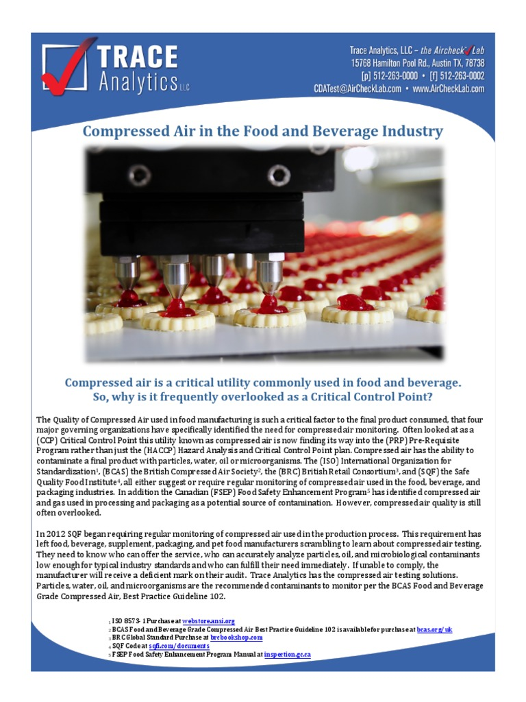 Compressed Air in the Food and Beverage Industry | Hazard