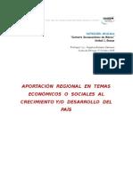 Aportación regional en temas económicos