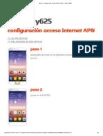 Tutorial - Configuración Acceso Internet APN - Huawei y625