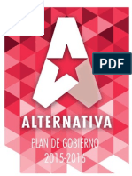 Plan de Gobierno Alternativa 2015-2016