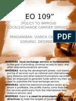 EO 109