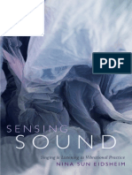 Sensing Sound by Nina Sun Eidsheim
