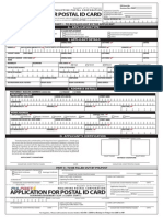 Philippine Postal ID Application Form