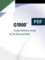 G1000 Diamond CockpitReferenceGuide DA40andDA40FSoftwareVersion0369.09orlater,DA40D0370.13